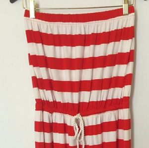 [GAP] Red/White Stripe Women's Tube Maxi Dress